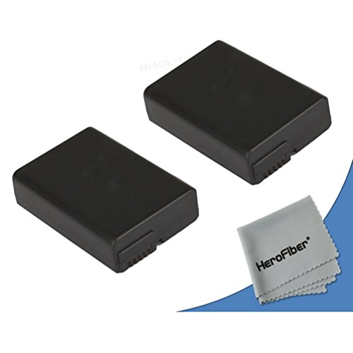 2 Nikon D5200 Batteries (1800mAh) Replacement of Nikon EN-EL14 Battery