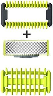 Philips Norelco Kit de corpo OneBlade, QP610/80, 3 peças, multicolorido, 1 unidade