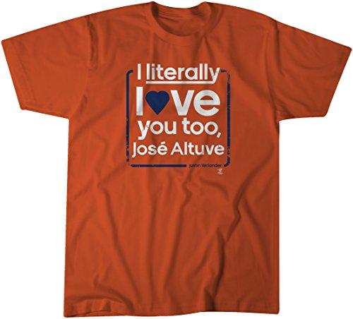 BreakingT MLB Jose Altuve Love Altuve Tee,3X-Large,Orange