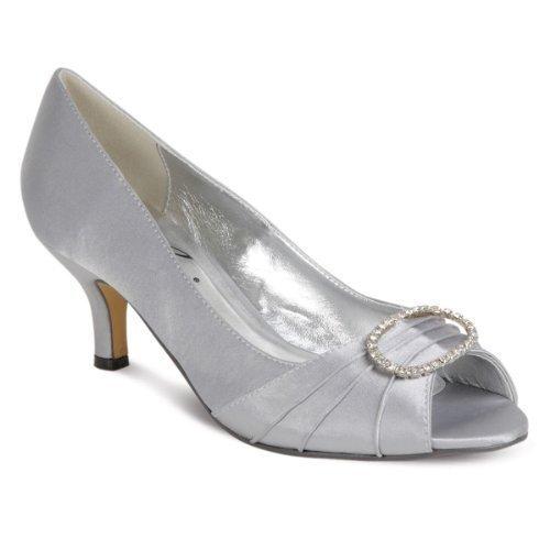 para Plateado Boutique Zapatos Sapphire vestir by de Sapphire mujer xqB6TwY8A