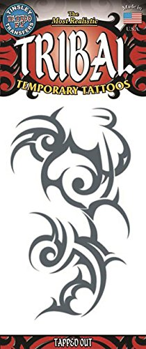Large Tapped Out Tribal Design Temporary Tattoos / Set of (Hawaiian Tattoo Designs)