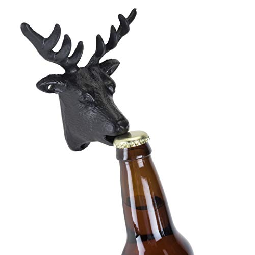 - Foster & Rye 5709 Cast Iron Wall Mounted Deer Bottle Opener Black Set of 1