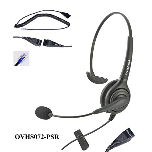 OvisLink Noise Canceling Call Center Headset Compatible with Polycom IP Phone VVX Series, CX Series and Soundpoint ()