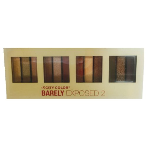 CITY COLOR Barely Exposed Eye Shadow Palette 2 - Day/Night 12 Colors