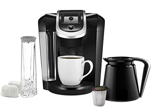 Keurig K300/K350 2.0 Coffee Maker Brewing System – Exclusive Offer Includes 2.0 Carafe and 2.0 Water Filter – Capable to Brew K-Cup and K-Carafe – Black
