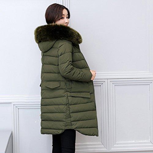 Outwear Caldo Cotone Militare Donne Giacca Inverno Di Imbottito Giacca Lungo Delle Comvip Verde naxn4BY