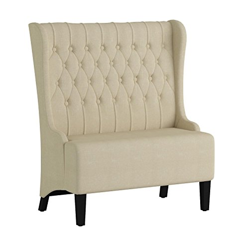 armless fabric grey amirsa on furniture a price of america loveseat here great modern bench upholstered s shop