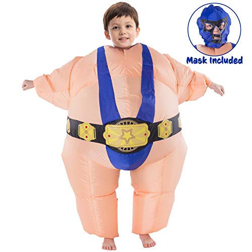 Spooktacular Creations Inflatable Costume Sumo Wrestler Air Blow-up Deluxe Halloween Costume - Child Size Fits 8-13yr (52
