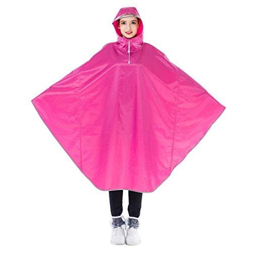 Femmes Adulte Chic Bicyclette Gris Chapeau Imperméable Jeune couleur Pink Transparent Et Section De Des Longue YTq8F4xqn