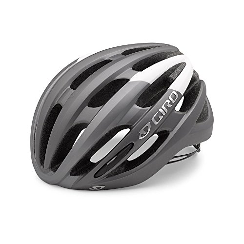 Giro Foray Road Cycling Helmet Matte Titianium/White Large (59-63 cm) (Best Road Bike Helmet Under 100)