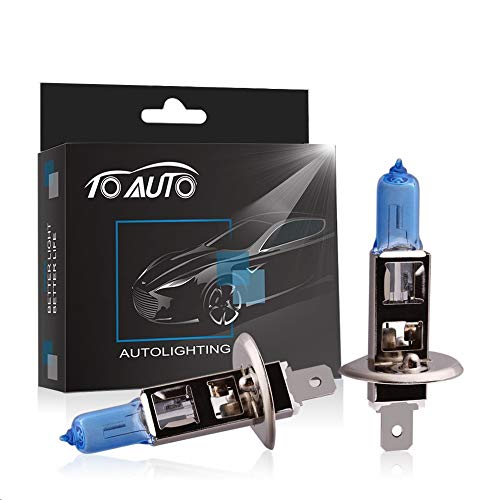 V Car Headlight Lamp Halogen Light Super Bright Fog Xenon Bulb White DRL ()