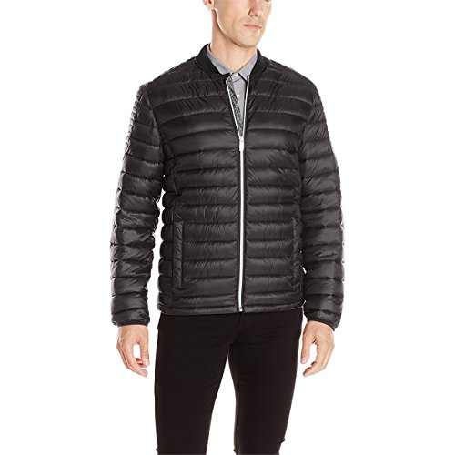 Calvin Klein Men's Packable Puffer Jacket, Black, X-Large by Calvin Klein