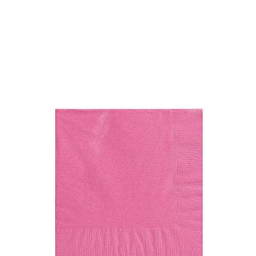 Big Party Pack Bright Pink Beverage Paper Napkins, 125 -