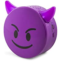 Bluetooth Smile Icon Light Up Speaker (PURPLE DEVIL)
