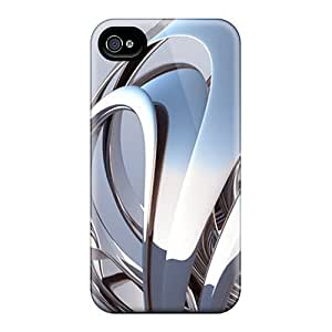 Awesome Design 3d Curve Hard Cases Covers For Iphone 4/4s