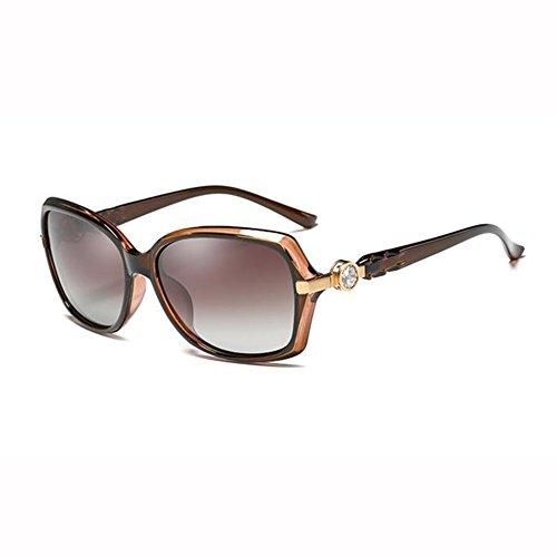 Manejar Pequeña Cara 1 Gafas Diamante Pequeña Anti Elegante De Moda xin 4 Polarizada Caja Beat De WX Imitación Sol Color UV Street Luz awxU8pn