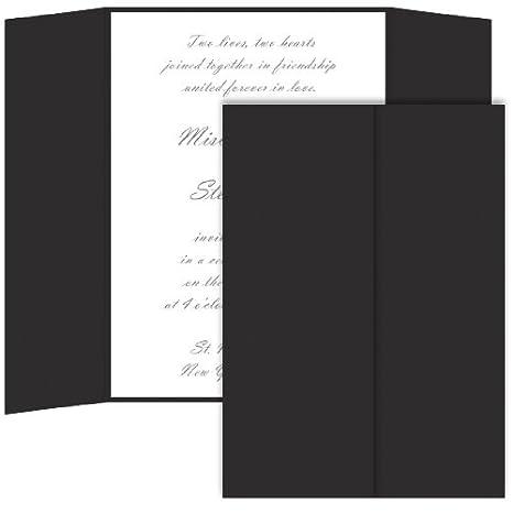 amazon com gatefold invitation enclosure 5 x 7 matte ebony 25