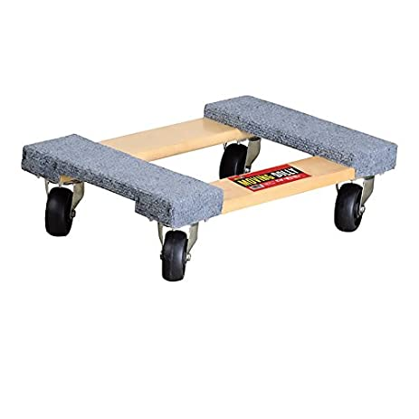 Good Four Wheeled Moving Dolly From Shoulder Dolly U2013 Heavy Duty Carpeted Furniture  Dolly With 660 Lb