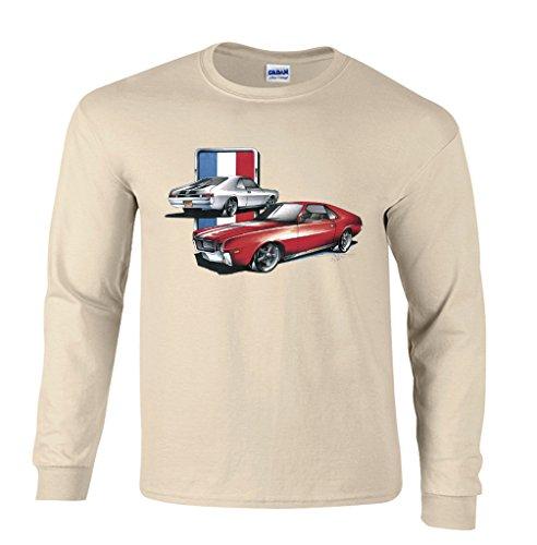 erican Motors Company Long Sleeve T-Shirt-Sand-Large ()