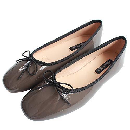 FLYRCX Los Zapatos Planos de la Parte Inferior Suave de la Boca Baja del Terciopelo de satén Zapatos de Ballet Ocasionales y cómodos Calzan los Zapatos de Trabajo de Las Mujeres Embarazadas Zapatos H