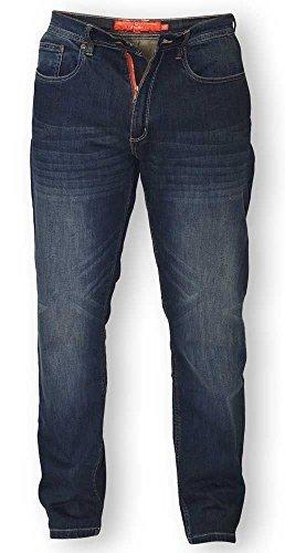 """D555 Bourne Konisch Dunkel-jahrgang Jeans Stretch für hoch herren bis 38"""" leg - Dk Wash, 40W x 38L"""