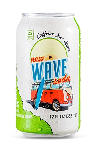 Wave Soda Sparkling Juice, Apple, 12 Ounce Cans (Pack of 12)