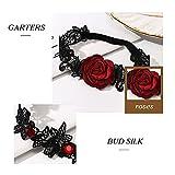 Evazen Bride Wedding Garter Rose Lace Floral