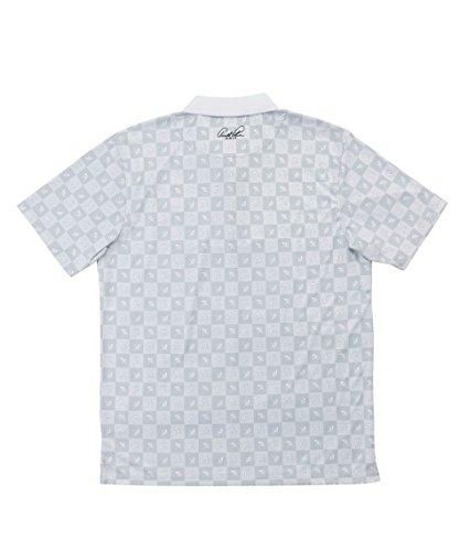 アーノルドパーマー メンズ ゴルフ ポロシャツ 半袖 総柄モノグラムPT半袖ポロ AP220101H05 WH M