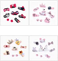 Wansan 9 PCS Lazos Corbata de pelo Ballena gris Cinta de forma ...