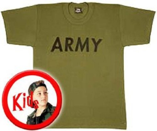 Nypd Physical Training T-shirt - Kids Army T-Shirt, Olive, Kids Large
