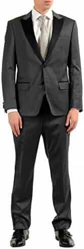 12cc37570 Hugo Boss Hanford/Golden Men's Gray Wool Tuxedo Two Button Suit US 38R IT  48R