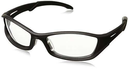 Crews TB110AF MCR Tribal Safety Glasses Graphite Frame Clear Lens Anti-Fog, 1 Pair