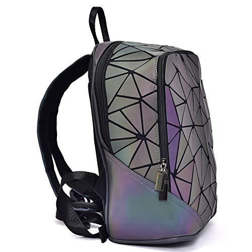 viaggio laser borsa da moda Rombal geometrica Zaino donna borsa Wygmadlifeqq luminosa 4nqvI