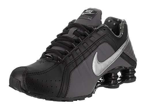 Nike Womens Shox Junior Black/Metallic Silver Running Shoe 5 B(M) US (Nike Women Shox Shoes)