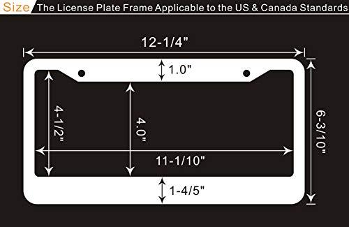 Black-Rhinestone-License-Plate with dimension