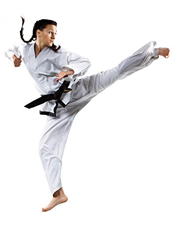 Wallmonkeys WM366290 Professional Female Karate Fighter Isolated on White Peel and Stick Wall Decals (30 in H x 22 in W) - Female Karate