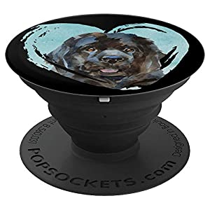 Newfoundland Portrait | Watercolor Dog Graphic PopSockets Grip and Stand for Phones and Tablets 34
