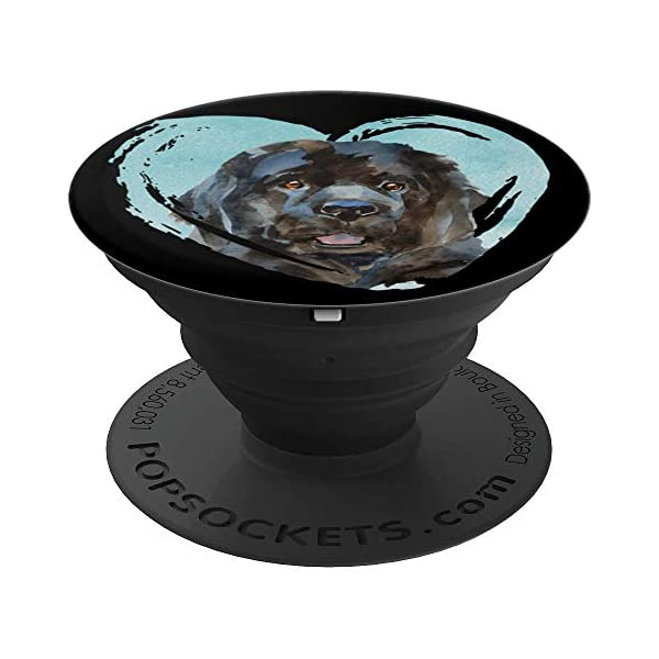 Newfoundland Portrait | Watercolor Dog Graphic PopSockets Grip and Stand for Phones and Tablets 1