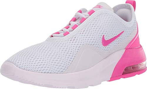 Nike Women's Air Max Motion 2 Running Shoe White/Laser Fuchsia/Pale Pink Size 9 M US