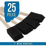 US Art Supply 1 inch Foam Sponge Wood Handle