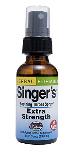 Singer's Saving Grace Extra Strength - Promotes Voice Clarity & Vocal Comfort - Herbal Remedy Soothes Moistens & Lubricates Throat Tissues - Clears Thick Throat Mucus - 1 oz Spray (Contains Echinacea + Osha Root + Propolis & More) - Herbs Etc