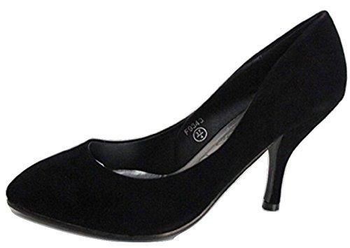 Spot On , Escarpins pour femme Noir noir - Noir - noir, 38.5