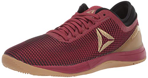 Reebok Women's CROSSFIT Nano 8.0 Flexweave Cross Trainer, Meteor Red/Black/Brass, 7 M US