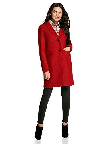 Coupe Droite Ultra Manteau Classique Rouge Femme 4500n oodji HwI6qO8xH