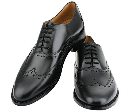 Lethato Wingtip Oxford Goodyear Welted Formele Handgemaakte Lederen Kleding Schoenen Zwart