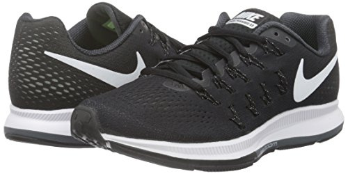 Image of the NIKE Women's WMNS Air Zoom Pegasus 33, Black/White-Anthracite-Cool Grey, 8
