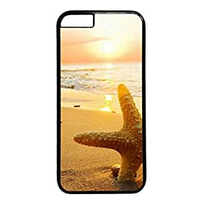 Cool Art Beach Summer Hard Plastic Back Case Cover for iphone 6 Black (4.7-Inch)