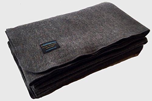 """ExoVantage 80% WOOL Blanket Warm Military Grade Emergency Blanket Large 64"""" x 90"""" 3.86 lbs."""
