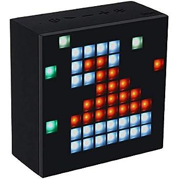 Amazon com: Divoom Timebox Evo Portable Bluetooth Pixel Art Speaker