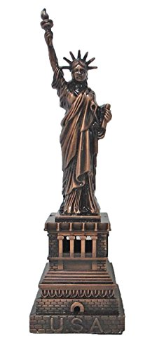 Metal Statue of Liberty Sculpture Replica 4 Inches Tall ()